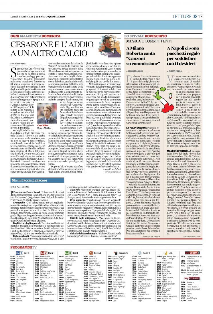 IL FATTO QUOTIDIANO_ 4 aprile 2016